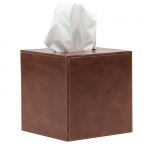 Hampton Leather Tissue Box