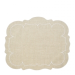 Rectangular Placemat Natural/White