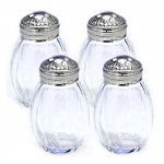 Malmaison Sterling Silver and Crystal Salt Shakers, Set of Four