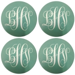 Round Sandstone Coasters - Personalized, Set of 4