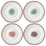 Filet Noel Set of Four Dessert Plates