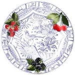 Oiseau Bleu Fruits Dinner Plate