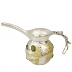 Sterling Silver and Enameled Jug with Olives-R