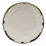 Princess Victoria Black Dinner Plate
