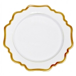Antique White with Gold Dinner Plate