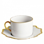 Antique White with Gold Tea Saucer