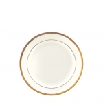 Gold Bracelet White with Gold Bread & Butter Plate