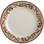 Winter Festival White Salad Plate