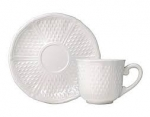Pont aux Choux White US Tea Cup and Saucer