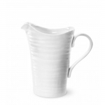 Medium White Ceramic Pitcher