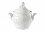 Vecchio Ginori White Covered Sugar Bowl