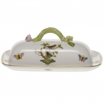 Rothschild Bird Butter Dish with Branch