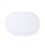 Classico White Oval Placemat