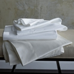 Stresa Solid Sateen White Full/Queen Flat Sheet