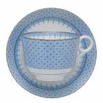 Cornflower Lace Teacup & Saucer