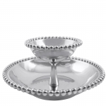 Pearled Tiered Chip and Dip Bowl