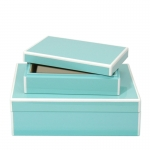 Elle Lacquer Set of Two Storage Boxes
