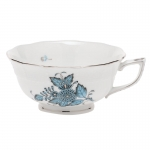Chinese Bouquet Turquoise Tea Cup