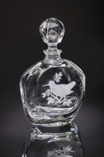 Upland Game Birds Woodcock Round Decanter-R