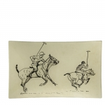 Vinatge Polo Players Rectangular Plate