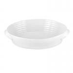 Medium Handled White Ceramic Roasting Dish