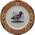 American Wildlife Green Wing Teal Salad Plate