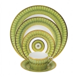 Arcades Green Five Piece Place Setting