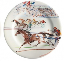 Cavaliers Trot Set of Four Dessert Plates