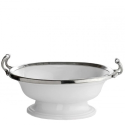 Oval Footed Bowl