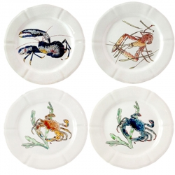 Grand Crustaces Set of Four Salad Plates