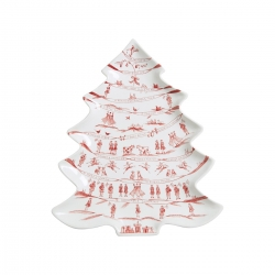 Country Estate Winter Frolic Ruby Tree Platter 12 Days of Christmas