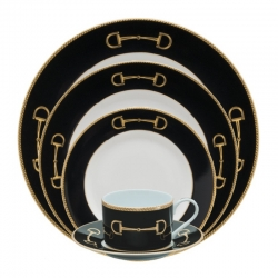 Cheval Black Five Piece Place Setting